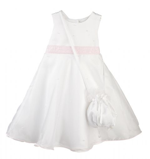 Purse & Dress White/Pink ~ girls dress
